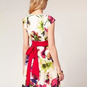 Ted baker floral wrap dress size 1